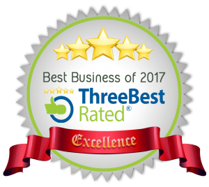 Best Business of 2017-ThreeBest Rated logo